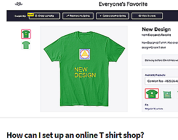 How to set up an online T shirt shop #lotaincome