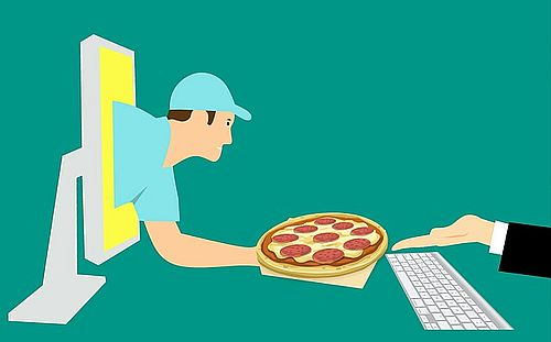 ordering pizza